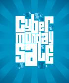 Cyber monday sale banner. — Stock Vector