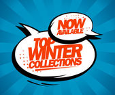 Top winter collections now available. — Vector de stock
