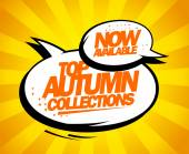 Top autumn collections now available. — Vector de stock