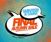 Final autumn sale pop-art design. — Stock Vector