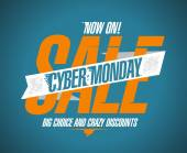 Cyber monday sale now on. — Stock Vector