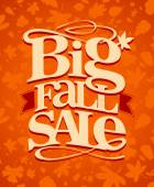 Big fall sale design. — Stock vektor