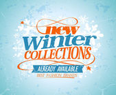New winter collections design. — Stock vektor