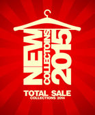 New collections 2015, sale collections 2014. — Stock vektor