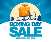 Boxing day sale design with sled. — Stock Vector