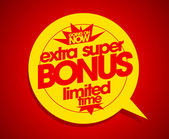 Extra super bonus limited time. — Stock Vector