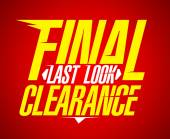 Final last look clearance design. — Stock Vector