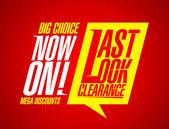 Last look clearance. — Stock Vector