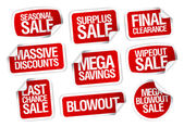 Mega savings sale stickers. — Stock Vector