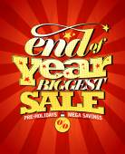 End of year biggest sale design. — Stock Vector