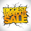 Wipeout sale banner. — Stock Vector #59563657