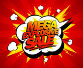 Mega explosive sale design. — Stock Vector