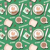 Seamless with breakfast food. — Stockvektor