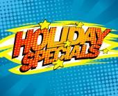 Holiday specials pop-art design. — Stock Vector