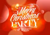 Christmas party red design. — Stockvector
