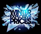 Winter explosive prices. — Stock Vector