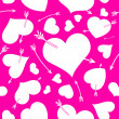 Seamless background with hearts. — Stock Vector #62568495
