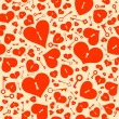 Seamless background with hearts. — Stock Vector #62568507