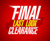 Final clearance design, last look. — Stock Vector