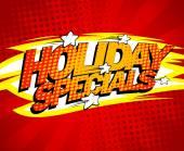 Holiday specials design.  — Stock Vector