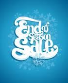 End of winter season sale illustration.  — Stock Vector