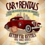 Retro car rentals design. — Stock Vector #64073201