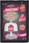 Sweet candy bar chalkboard menu design. — Stock Vector