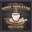 Good morning chalkboard cafe sign. — Stock Vector #65884801