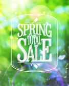 Spring total sale design. — Stock Vector