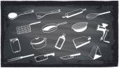 Kitchen utensils chalkboard design. — Stock Vector