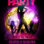 Non stop vinyl party poster. — Stock Vector #71934463