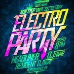 Non stop electro party design. — Stock Vector #72692433