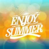 Enjoy the summer bright poster. — Stock Vector