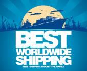 Mejor diseño de envío en todo el mundo. — Vector de stock