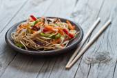 China noodles with vegetables — Stock Photo
