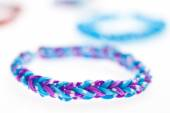 Close up of bracelets made with rubber bands. — Foto Stock