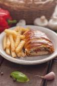 Chicken breast in a French pastry. — Stock Photo
