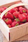 Basket with strawberry. — Stock Photo