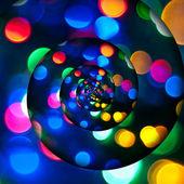 Kroucené bokeh jako disco světla. — Stock fotografie
