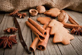 Ginger cookies with cinnamon and anise  — Stock Photo