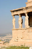 Part of the Erechtheion or Erechtheum, Acropolis of Athens in Greece — Stock Photo