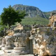 The tops of corinthian columns sit among the ruins at Corinth, Greece — Stock Photo #56801019
