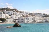 Mykonos town on a beautiful sunny day, Mykonos, Cyclades, Greece — Stock Photo