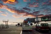 Airport tarmac — Stock Photo