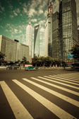Shanghai Urban Construction, Pudong — Stock Photo