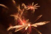 Instant burst of fireworks — Stock Photo