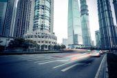 Shanghai Urban Construction, Pudong — Stock Photo