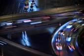 The motorway traffic light trace — Stock Photo