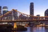 Brisbane city building, night — Zdjęcie stockowe