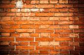 The old red brick wall — Stock Photo
